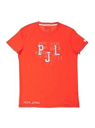 Pepe Jeans London Camiseta Angus (Rojo)