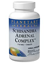 Planetary Herbals Schizandra Adrenal Complex Tablets, 710 mg, 120 Count Bottle