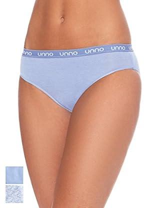 Unno Pack x 2 Braguitas Bikini Algodón
