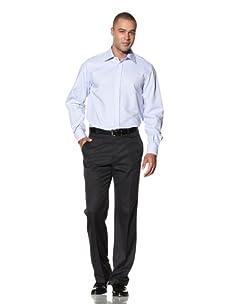 Yves Saint Laurent Men's Super Twill Italian Collar Dress Shirt (Light Blue/White)
