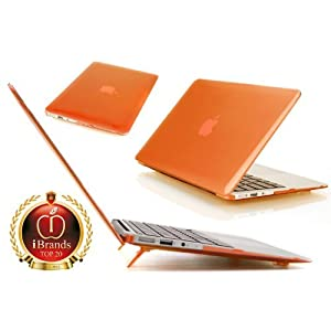 iPearl mCover Hard Shell Case for 11.6 Apple MacBook Air A1370 & A1465 (Orange)