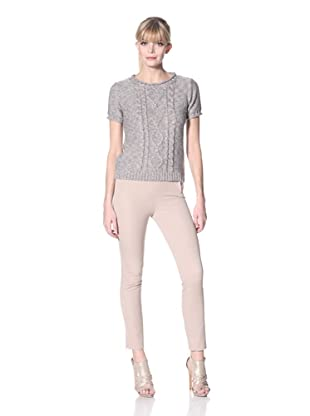 Zero Degrees Celsius Women's Metallic Short Sleeve Sweater (Gold/Blue/Sage)