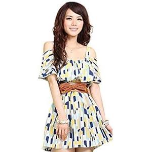 Santana Fashion Printed Tunic Dress - Multicolour