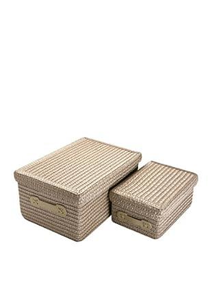Zings Set De 2 Cajas Rectangulares Beige