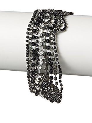Stella & Ruby Nuit Draped Chain Bracelet with CZ's