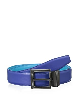 Original Penguin Men's Reversible Leather Belt (Mazarine)
