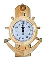 Wooden Antique Anchor Wall Clock
