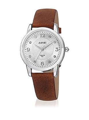 August Steiner Uhr mit japanischem Quarzuhrwerk  braun 33 mm