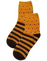 69th Avenue Men's Cotton Socks (Brown)
