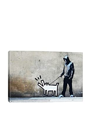 Banksy Choose Your Weapon Keith Haring Dog Giclée On Canvas