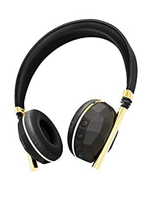 Caeden Linea Nº10 Bluetooth Wireless Headphone, Faceted Carbon/Gold
