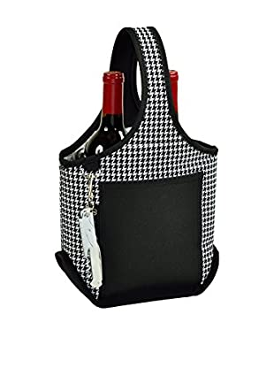 Picnic at Ascot 2-Bottle Carrier, Houndstooth
