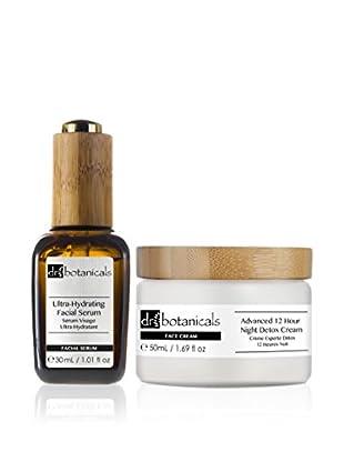 Dr Botanicals Gesichtsbehandlung 2 tlg. Set Ultra-Hydrating Facial Serum + Advanced 12 Hour Night Detox Cream