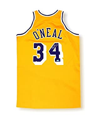 Steiner Sports Memorabilia Shaquille O'Neal Signed Mitchell & Ness Yellow Lakers Jersey