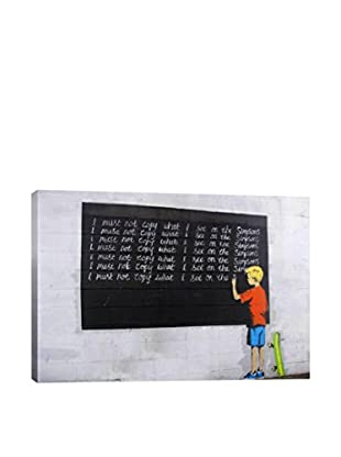 Banksy I Must Not Copy What I See On Simpsons Gallery Wrapped Canvas Print