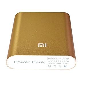 Mi Power Bank 10400mAh-compatible with smartphones&tablets-Mi 3,Apple,Samsung,HTC etc -Gold