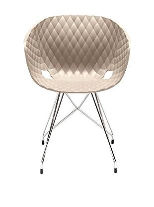 Metalmobil Stuhl Unika-596 taupe/chrom