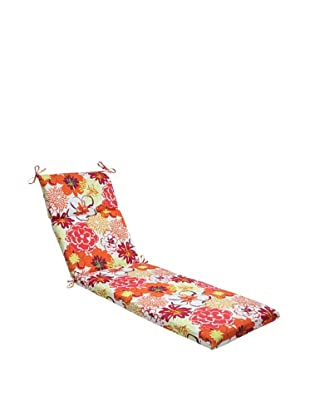 Pillow Perfect Outdoor Floral Fantasy Chaise Lounge Cushion, Raspberry