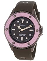 Freelook Women's HA9035-5B Aquajelly Brown with Pink Bezel Watch