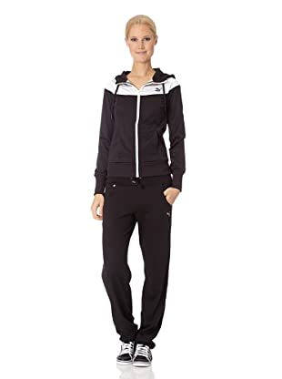 PUMA Jacke Colorblock Hooded Track (Schwarz)