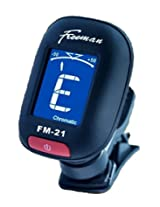 The FM-21 on Clip Style Chromatic Tuner (Matt Black) Guitars,Mandolins,Bass,Fiddle,Ukelele,Violin,Acoustic or Electric Six String Guitar Axe. This Compact Digital Mini Tuner Is Guaranteed to Help Keep You in Tune.