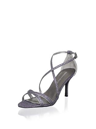Adrienne Maloof Women's Yalena Glitter Sandal (Pewter)