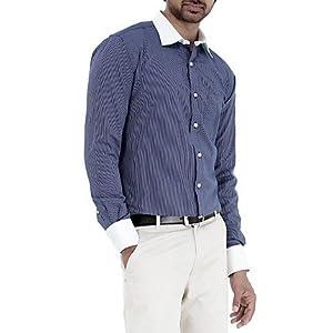Genesis Blue Striped Men Shirt - 11GCSH26180