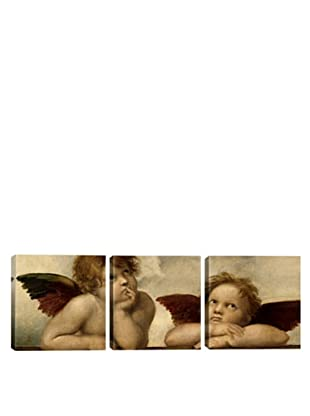 iCanvasArt Raphael: The Two Angels Panoramic Giclée Triptych