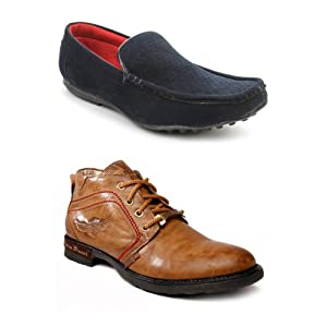 Bacca Bucci Men Boots And Loafers Combo BB harleyblue