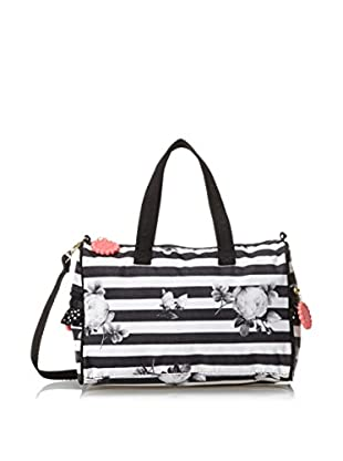 Benefit for LeSportsac Women's Petite Social Satchel, Stripe O Gram with Ruffle