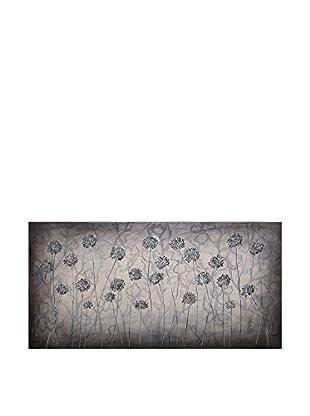Concept Luxury Wandbild Flowers silber/grau