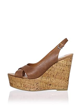 Dolce Vita Women's Jill Wedge Sandal (Natural Leather)