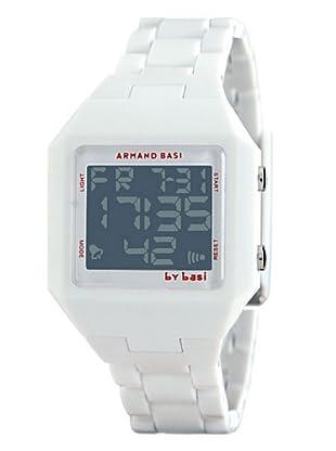 BY BASI A0771U05 - Reloj Unisex movi cuarzo correa policarbonato blanco