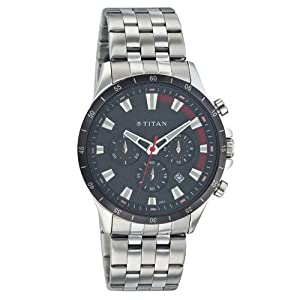 Titan Chronograph Black Dial Men's Watch - 9346KM01