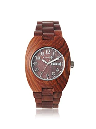 Earth Women's SEDE03 Hilum Red Wood Watch