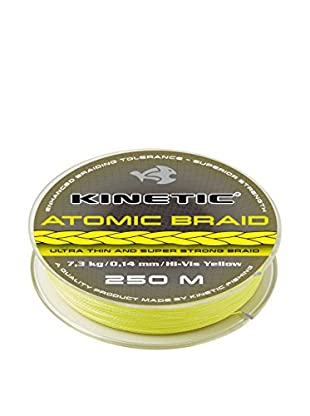 Kinetic Angelschnur Atomic Braid 0,38 mm Hi-Vis gelb