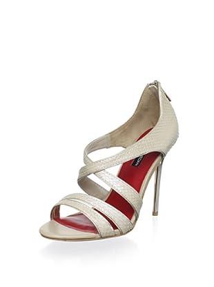 Charles Jourdan Collection Women's Jillian Strappy Sandal (Vanilla/Platino)