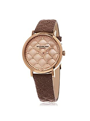 Stührling Women's Audrey 462 Symphony Brown/Rose Stainless Steel Watch
