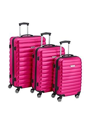 Luggagezone Hartschalen Trolley Upright rosa 77 cm