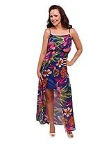 Street 9 Women's Dress (DD1009_Blue_Large)