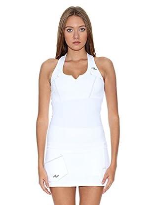 Naffta Camiseta Tenis / Padel (Blanco / Azul Marino)