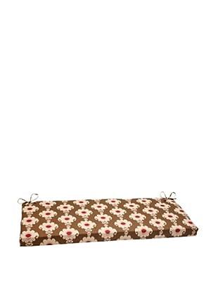 Waverly Sun-n-Shade Rise and Shine Henna Bench Cushion (Red/Brown/Tan)