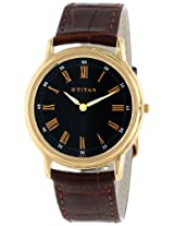 Titan Orion Analog Black Dial Men's Watch - NC1488YL04