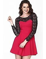 Pink Solids Skater Dress
