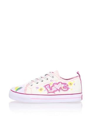 Pablosky Kid's Light-Up Love Sneaker (White)