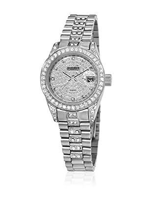 Akribos XXIV Quarzuhr Ladies Crystal Bracelet Watch silberfarben 26  mm