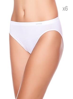 Unno Pack x 6 Braguitas Bikini (Blanco)