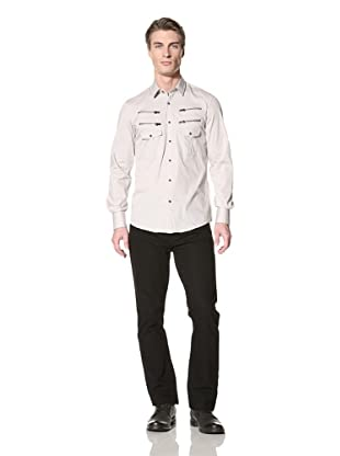 Antony Morato Men's 2 Pocket Shirt with Zipper Detail (Safari)