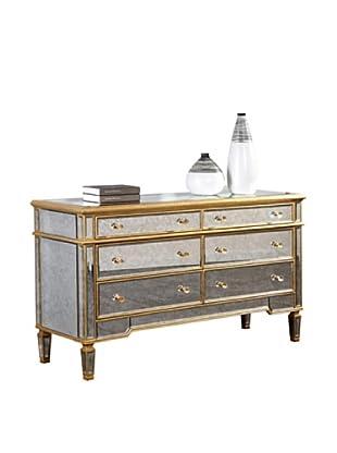 Florentine 6-Drawer Dresser, Gold Leaf/Antique Mirror