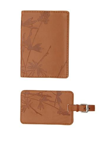 Mudlark Artifact Collection Passport Cover and Luggage Tag, Tan